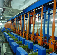 Fully automatic vertical elevation plating production line